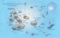GALAPAGOS Islands-MAP