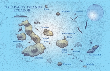 GALAPAGOS Islands-MAP