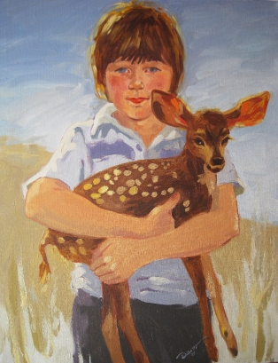 Portait of Josh&DeerREDUCED
